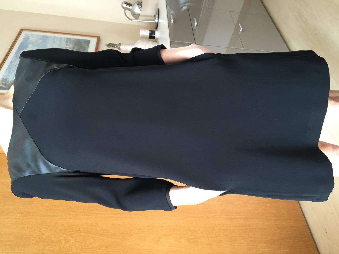 Zara kunstleder kleid schwarz