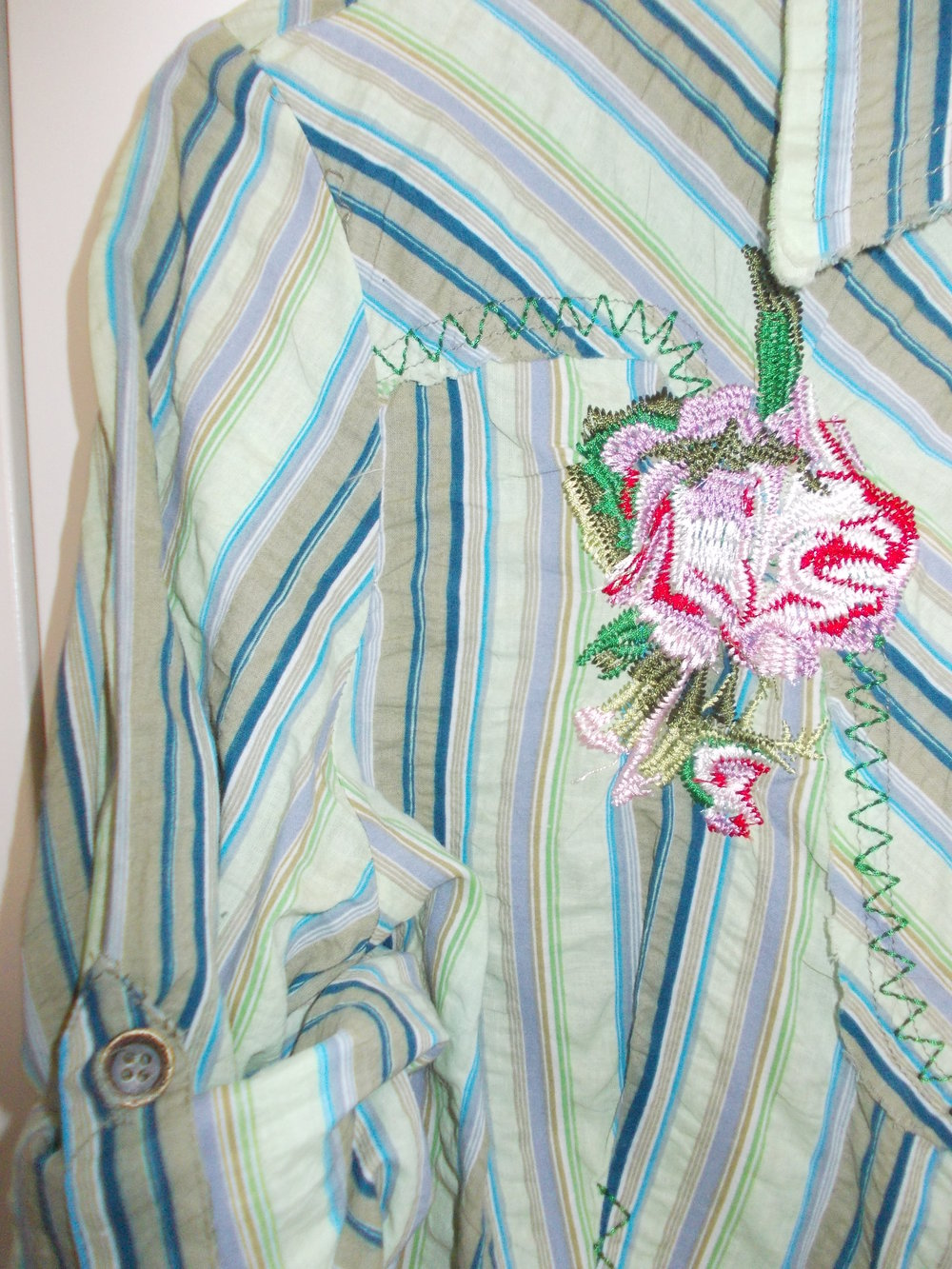 Rosa Eleven - Bunte Sommerbluse    Kleiderkorb.de a4f03c4182