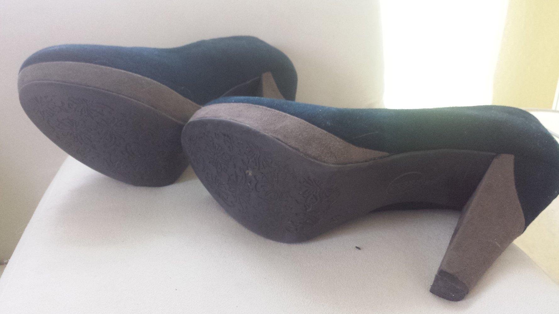 graceland blaue pumps plateaupumps wildleder. Black Bedroom Furniture Sets. Home Design Ideas