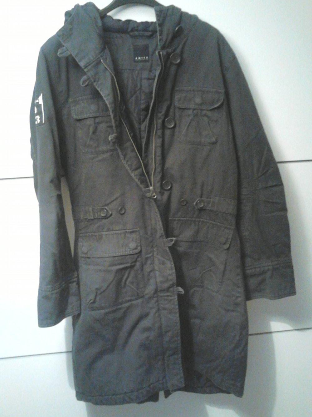 Amisu schwarzer langer winter for Schwarzer langer mantel