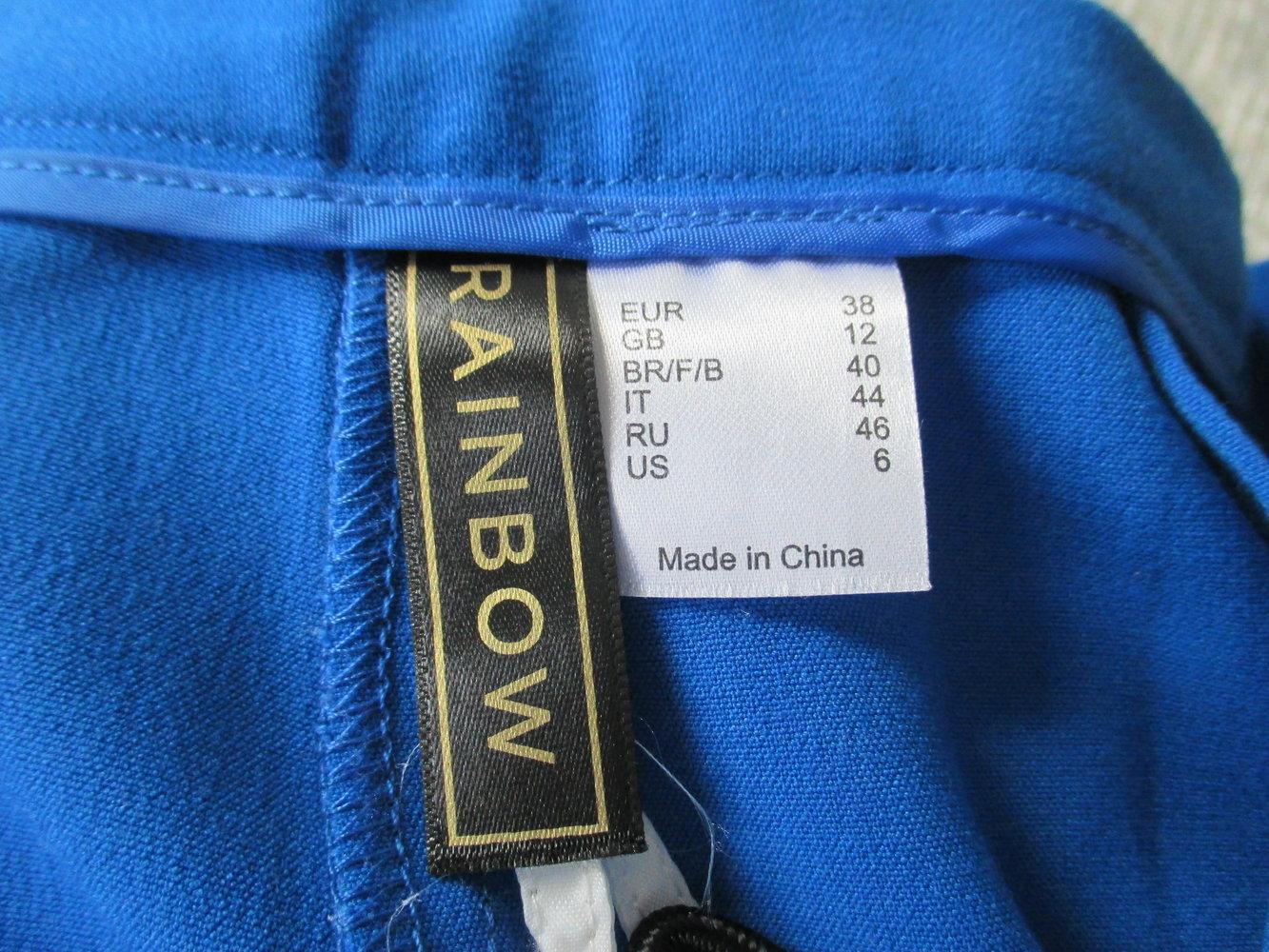 königsblaue Shorts von Rainbow, Gr. 38, seitl. Reißverschluss ... f243da7ff3