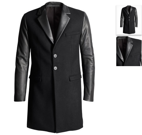 versace for h m herren mantel wollmantel neu gr 50 l. Black Bedroom Furniture Sets. Home Design Ideas