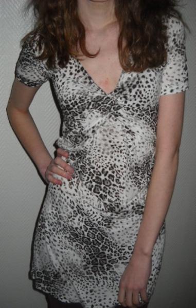 Stolen - Leo Print Kleid Longshirt Leopard Tiger T Shirt ...