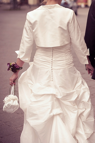 Zauberhaftes extravagantes Brautkleid (änderbar v. 36-42) & Jacke ...