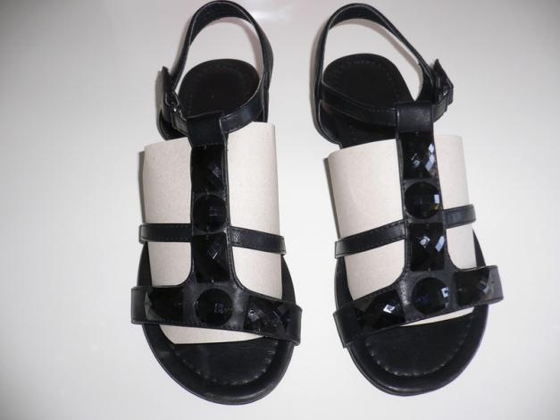 r mersandalen sandalen von h m in gr 38 schwarz mit. Black Bedroom Furniture Sets. Home Design Ideas