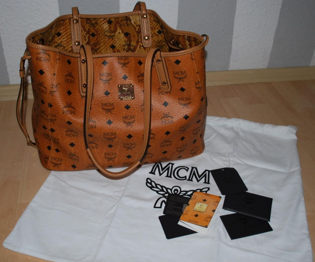 100 % Original MCM Reversible ShopperTasche Medium