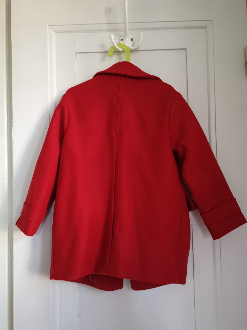weit verbreitet wie man serch erstklassig Mantel Zara rot Gr. 128
