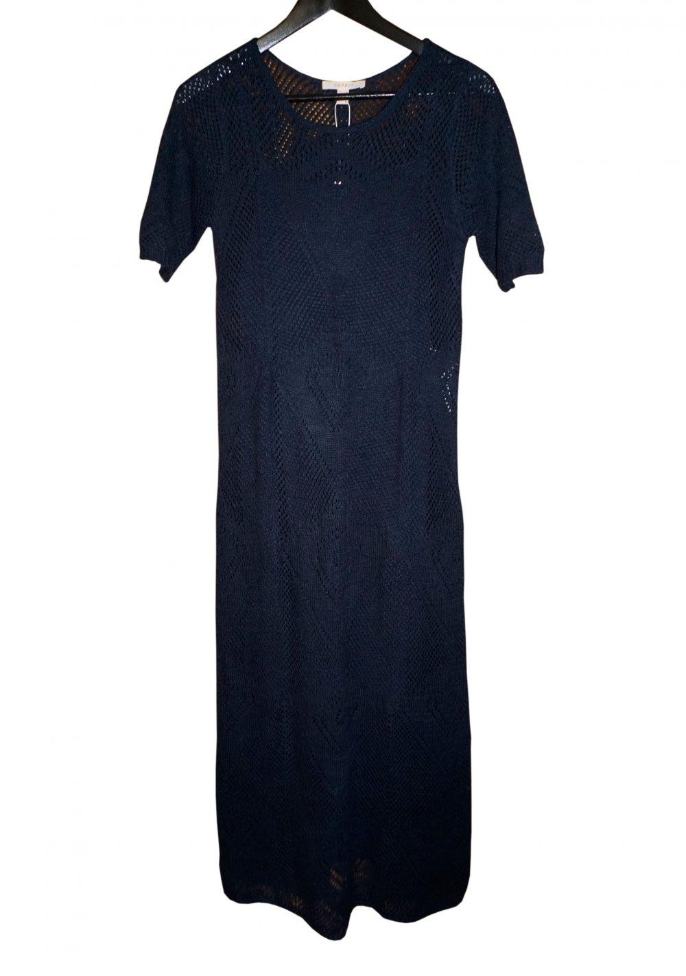 Esprit Kleid Strickkleid Sommerkleid GR. S 36 blau ...