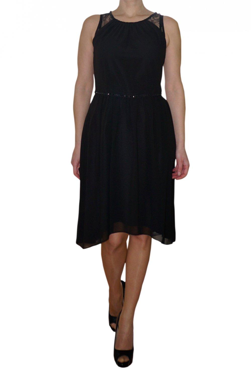 Esprit kleid schwarz pailletten
