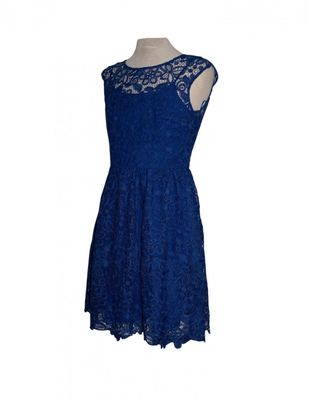 Esprit Damen Kleid Sommerkleid spitze Gr. 14 S