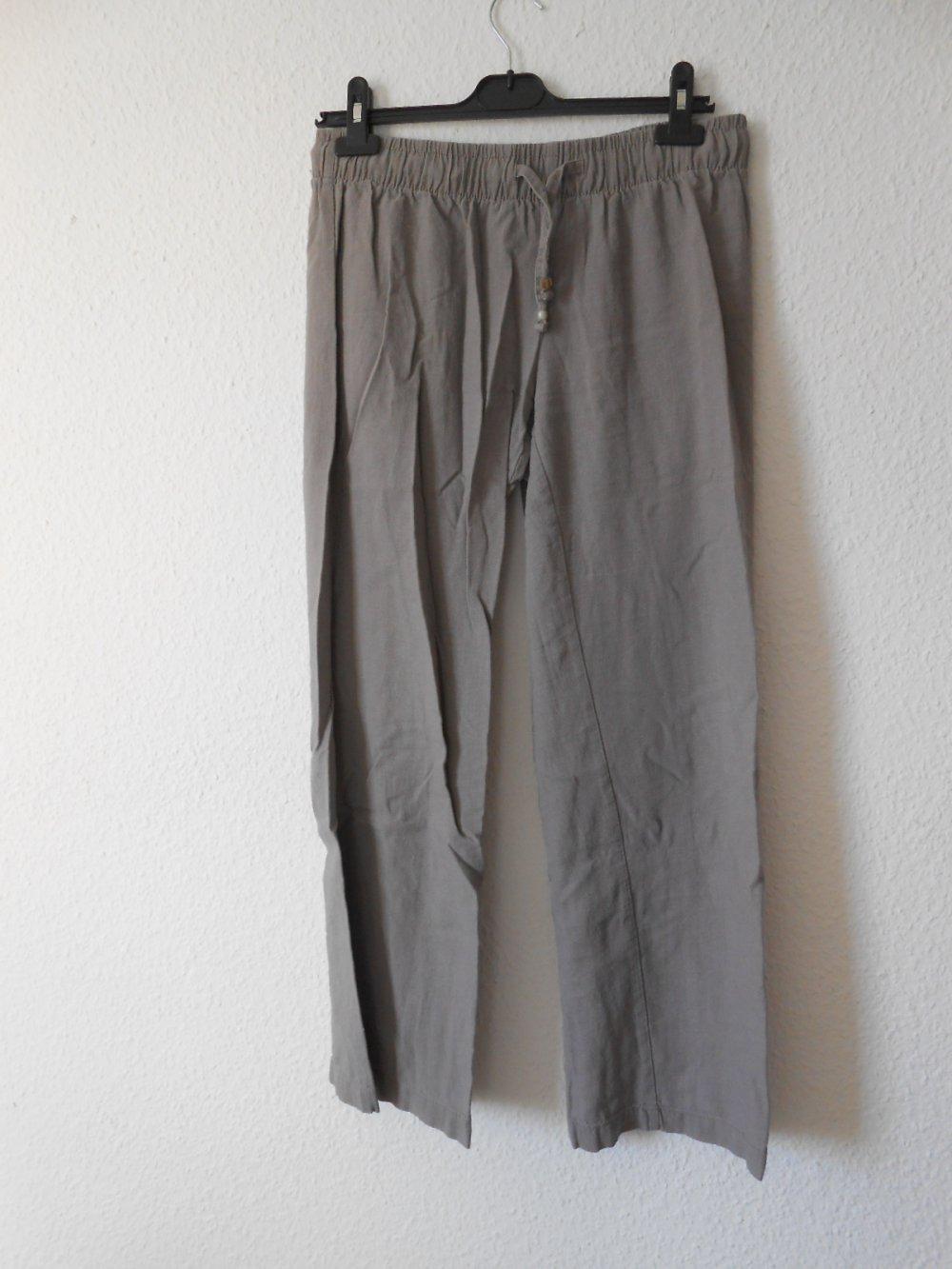 esmara - Graue Leinen Hose Marlene Stil 40    Kleiderkorb.de c62343d4c4