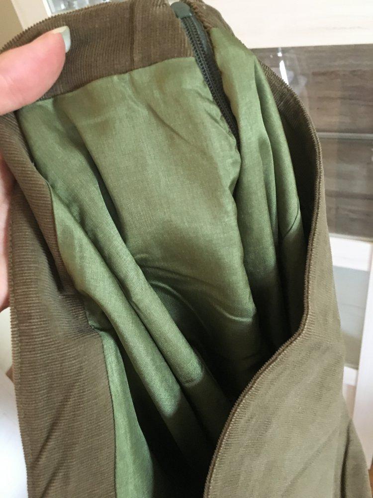 brand new c0664 efd6f Eleganter khaki grüner langer Rock, schick, Sommerrock, Abendrock, Sommer,  Frühling, navy