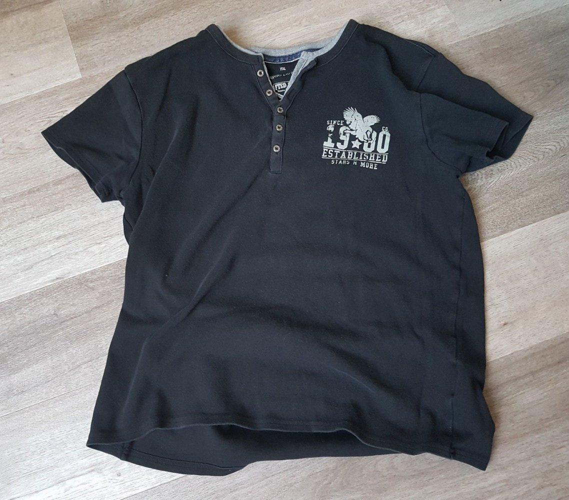 Trendy Herren Shirt Gr. XXL (Angelo LitricoC&A) schwarz T Shirt