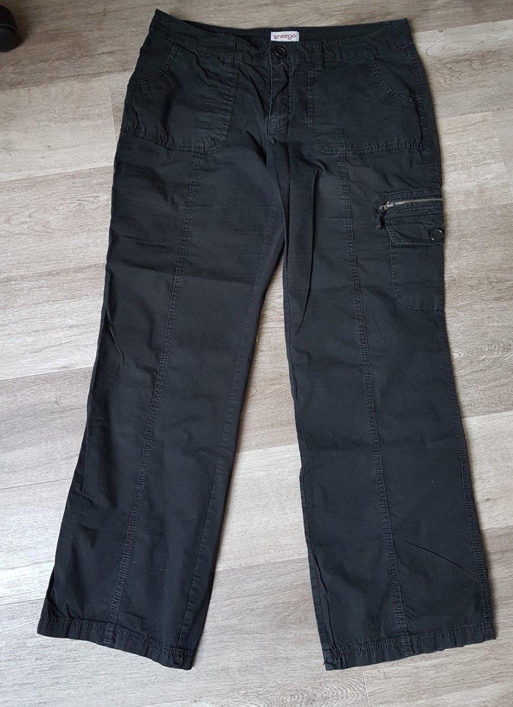 Lässige Damen Cargohose Gr. 38 (sheego) schwarz