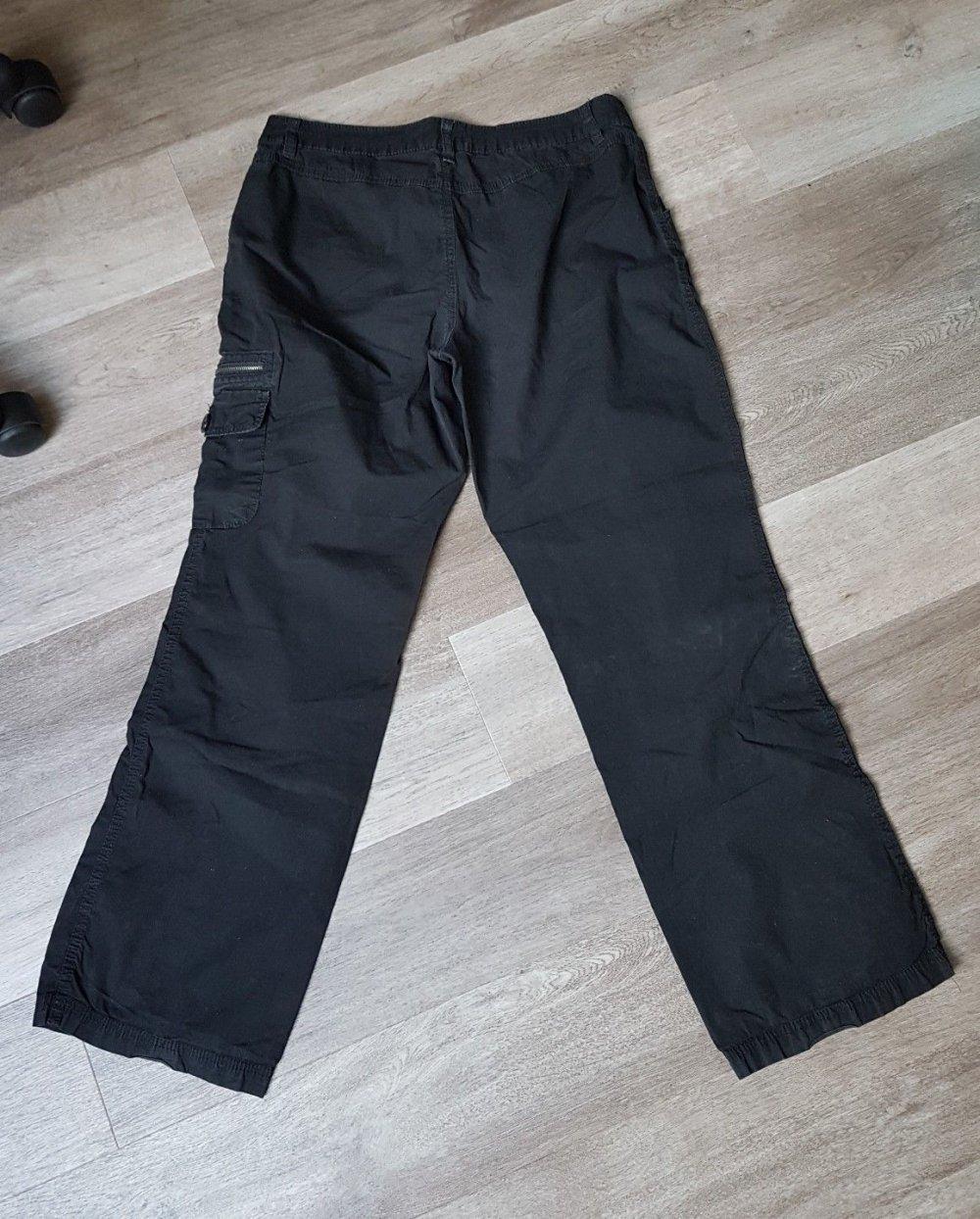 Lässige Damenhose Gr. 38 (sheego) Cargo Style schwarz