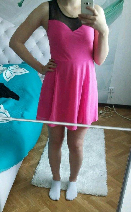 H&M - Rosa schwarz Party Kleid sexy :: Kleiderkorb.de