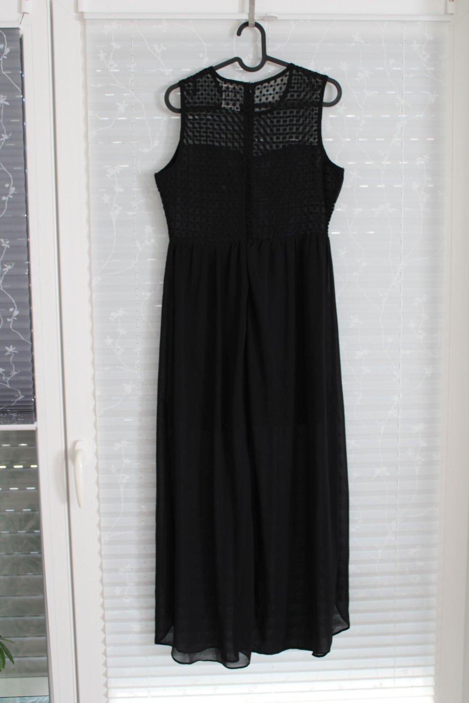schickes schwarzes kleid, lang