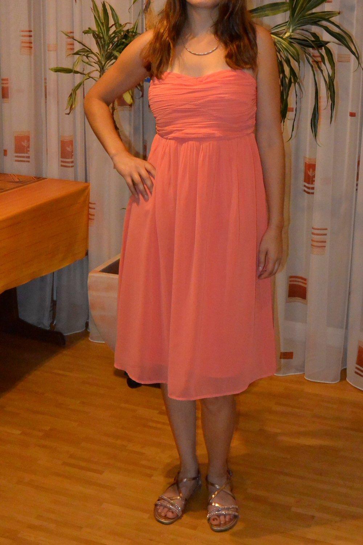 Festliches Kleid Hochzeit Abiball koralle Vero Moda :: Kleiderkorb.de