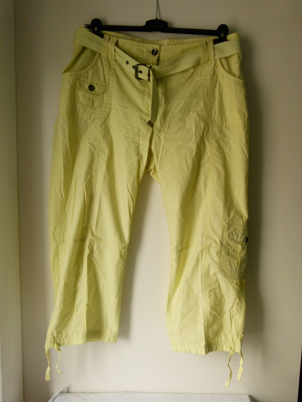 38 türkis kurze Hose Damen Shorts Gr goldenem Gürtel Sommerhose NEU