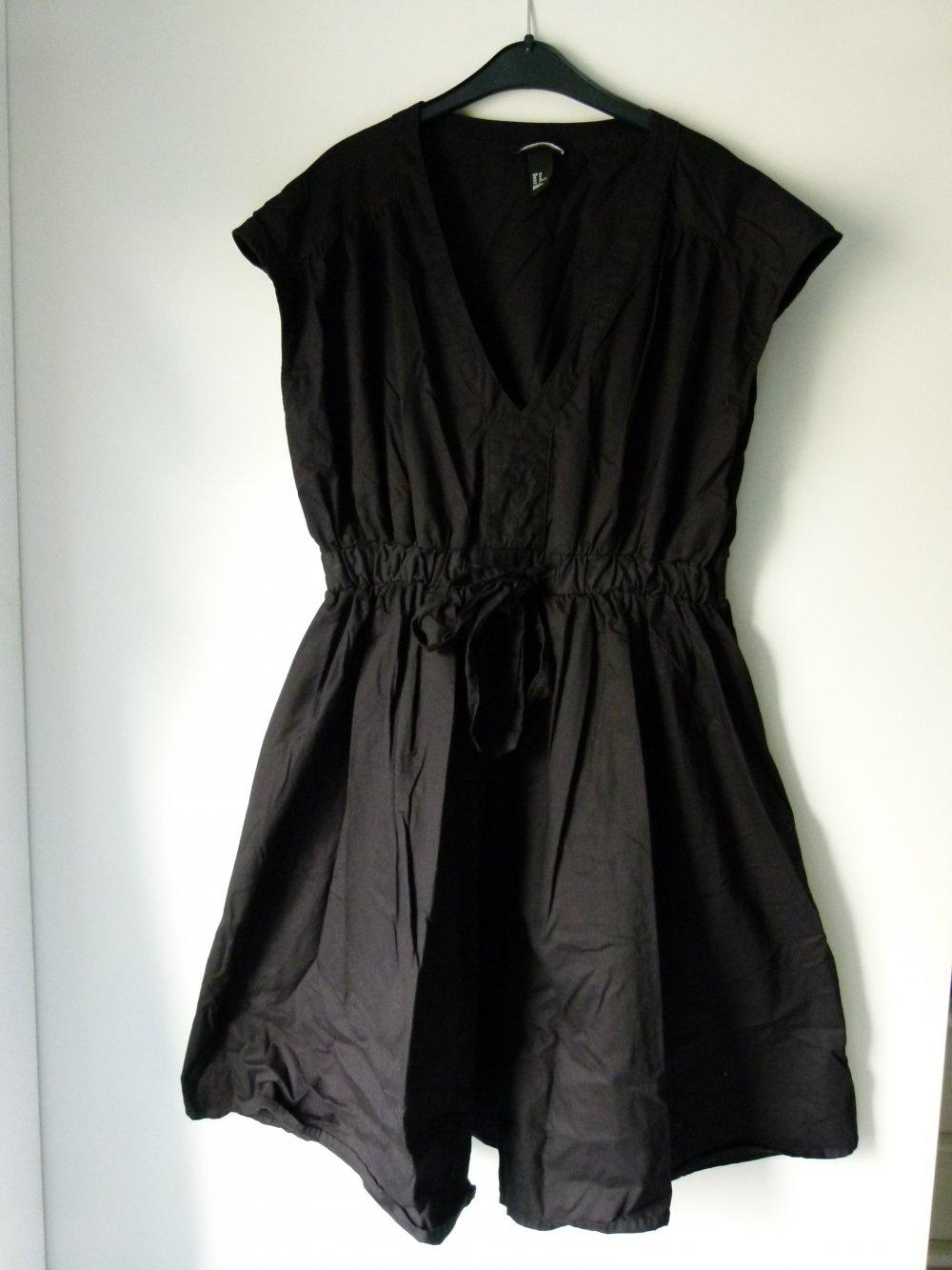 Rockabilly Kleid, schwarz, von H&M, Gothic Boho Retro Vintage Festlich