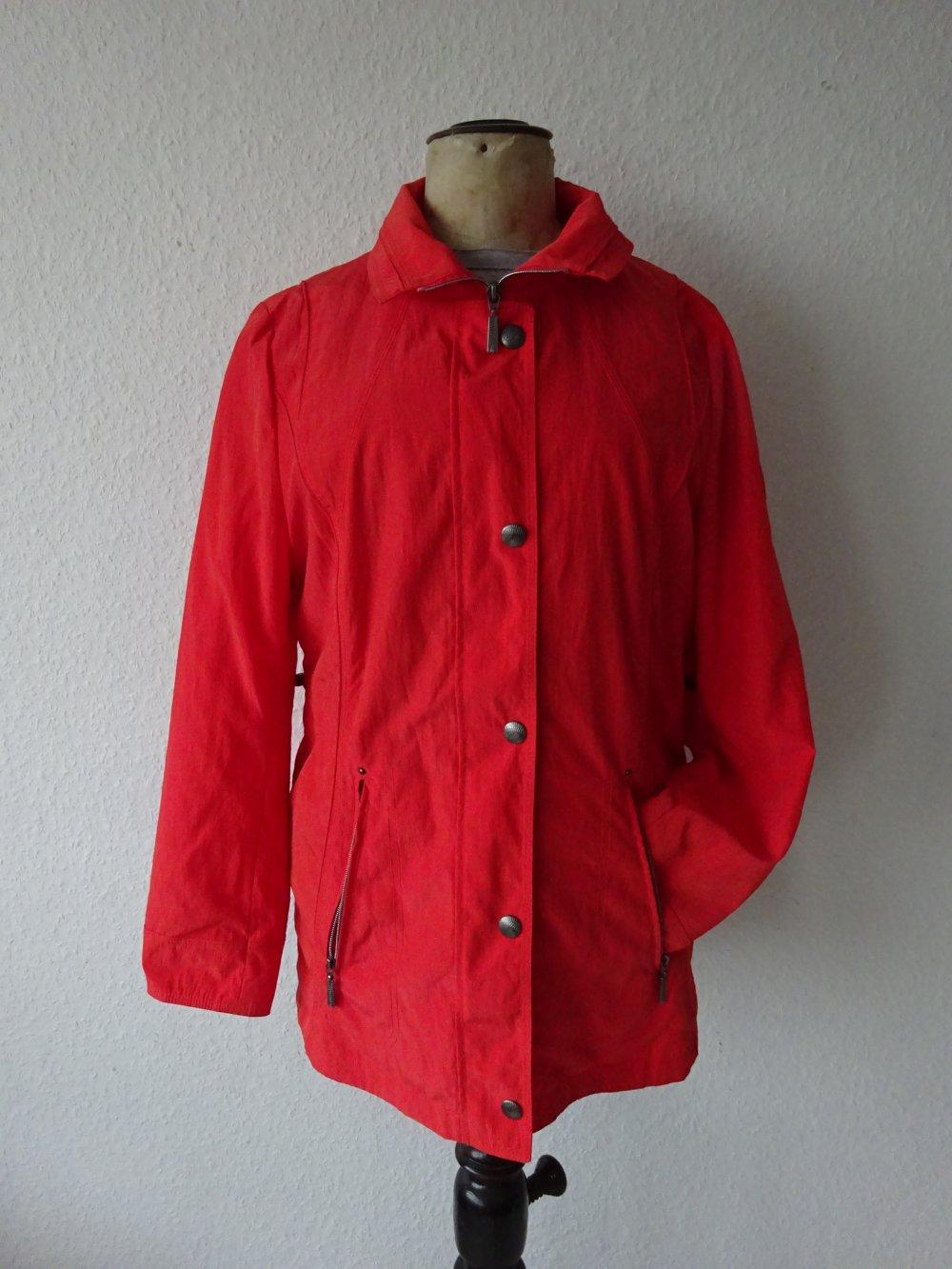 Leichte Rote Taillierte Damen Jacke Von Gina S Magenta Blazer