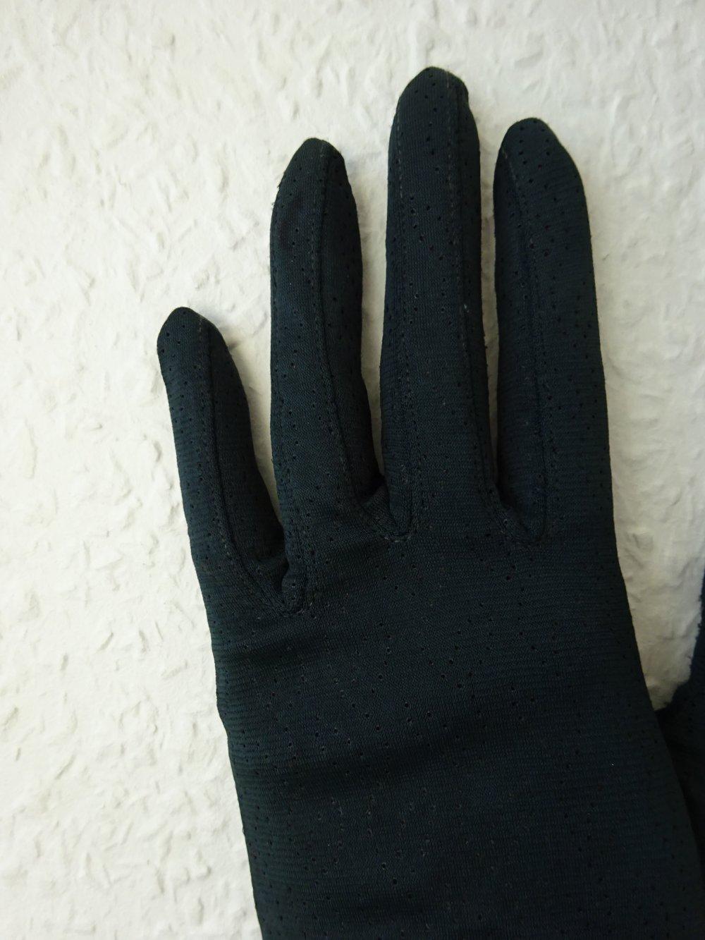 true vintage - Schwarze edle Damen Stoff Handschuhe mit ...