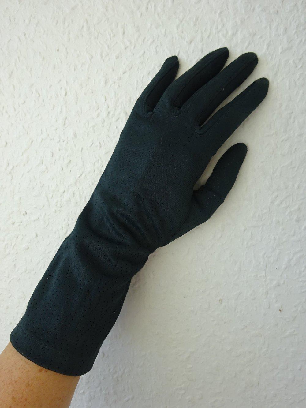 Elegante Damen Handschuhe aus schwarzem Echtleder NEU