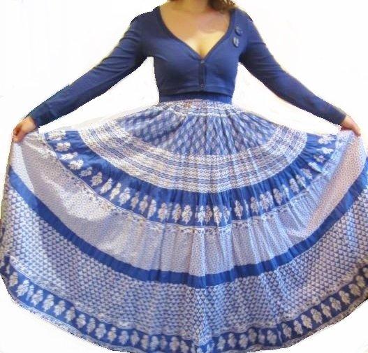 Ohne Neues Kleid Maxikleid Sommerkleid Hippiekleid Boho Style Blau Weiss Mustermix Weit Schwingend Gr 38 Kleiderkorb De