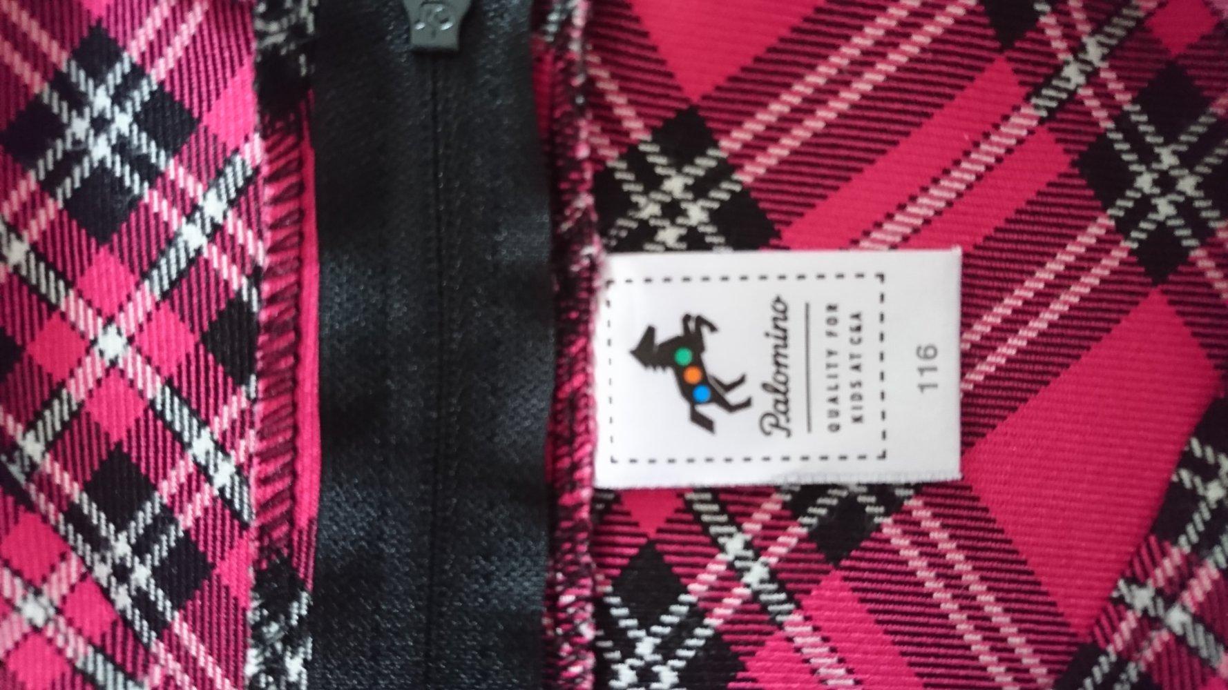 831e707a94765 pink kariertes Kleid, Palomino, Gr. 116 :: Kleiderkorb.de