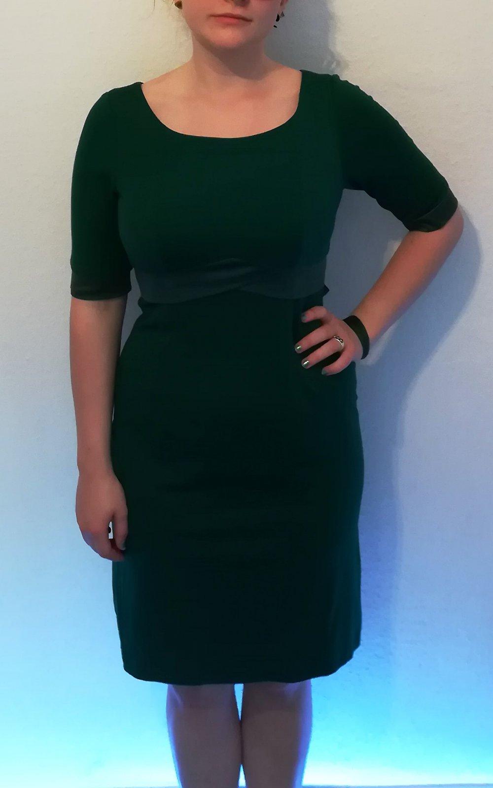 fever london - grünes abendkleid mit satinschleife größe 38