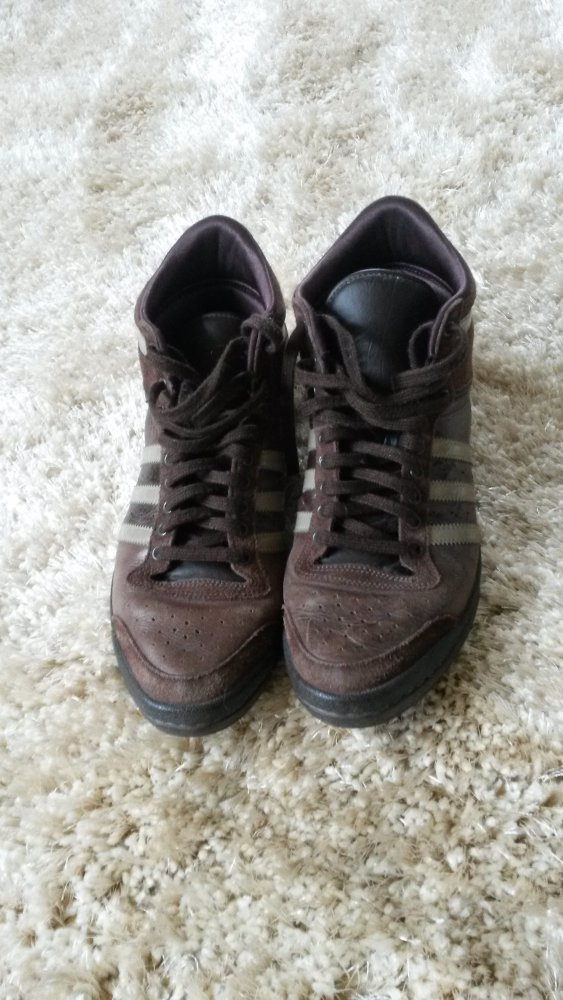 Braune Adidas High Sneaker Gr. 3839