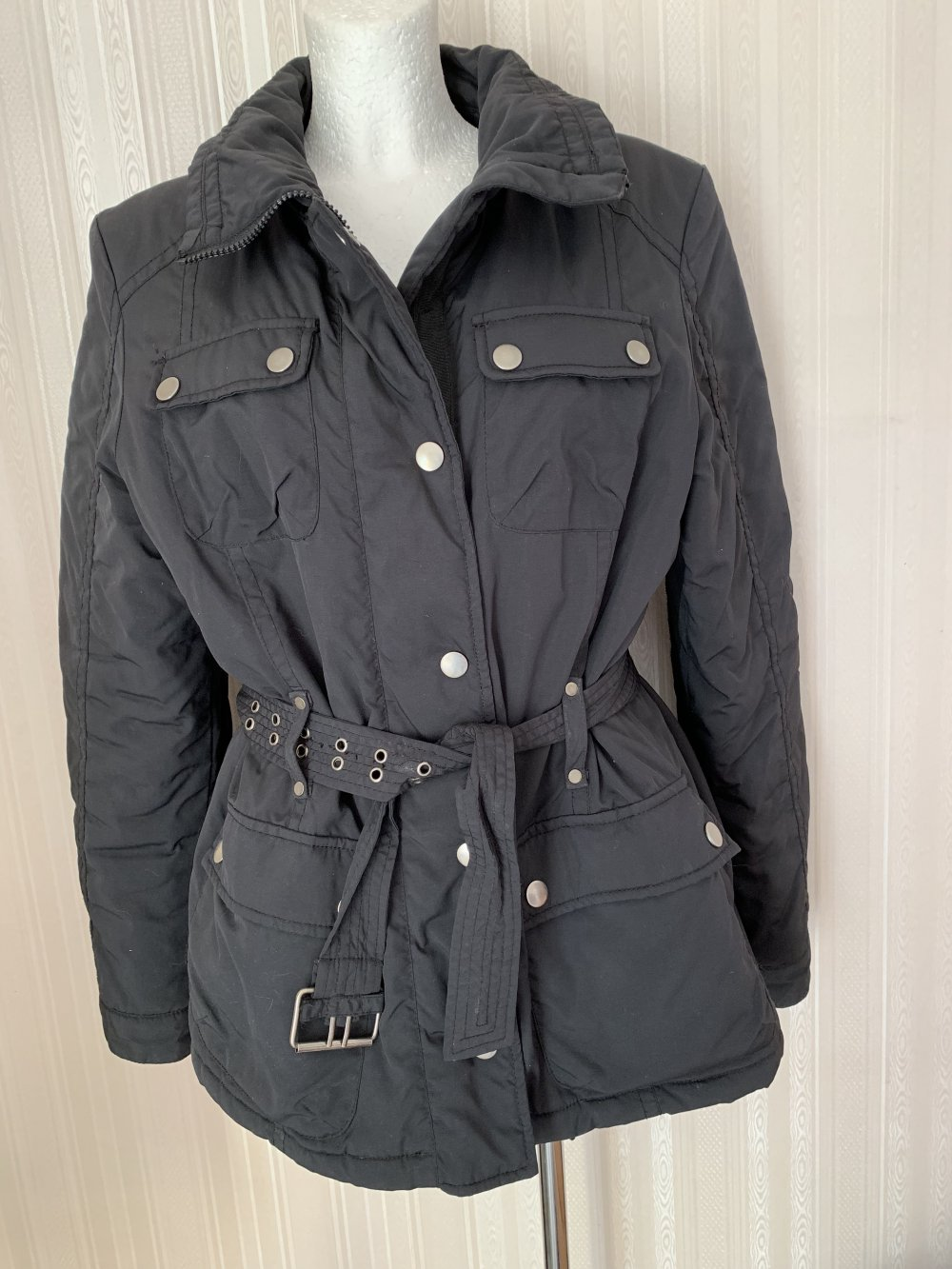 cheaper f804d 78be6 schwarze Winterjacke, In Linea Firenze, Größe 42