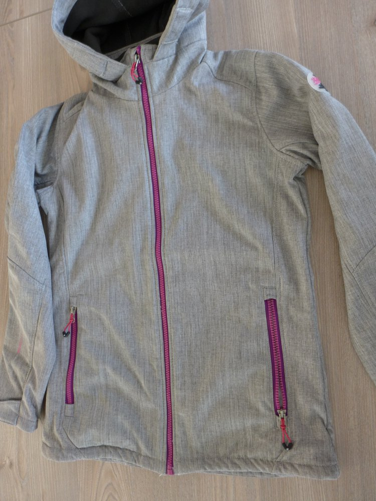 Größe 164 Killtec Softshelljacke übergangsjacke Jacke Grau