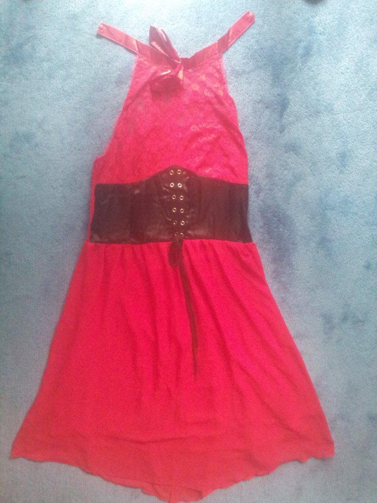 check out 74ad9 127e2 Kleid rot schwarz Gothik transparent Gr. 46/48 NEU