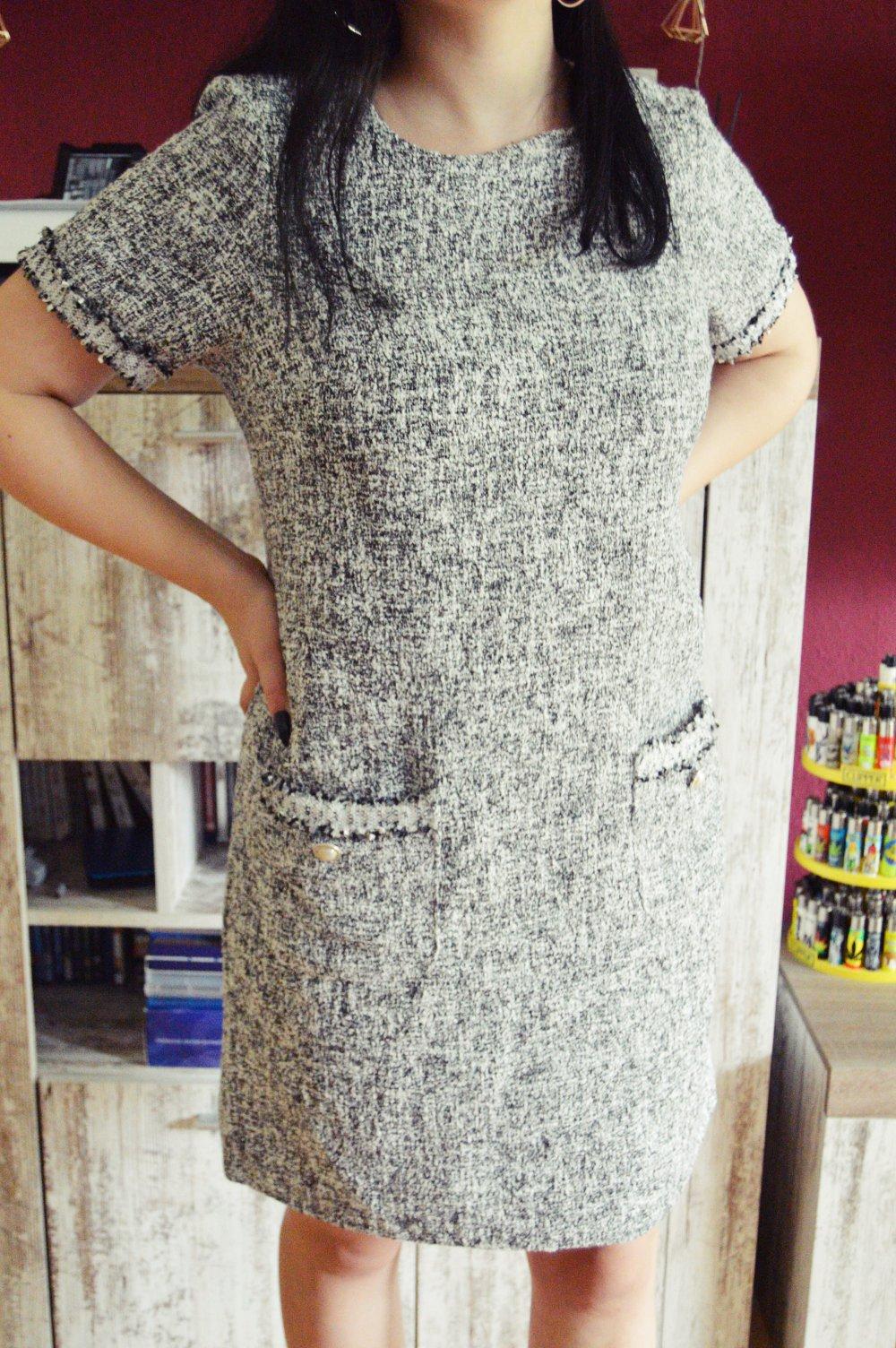 Dunnes Struktur Kleid Gr 42 Elegant Herbst Kleiderkorb De