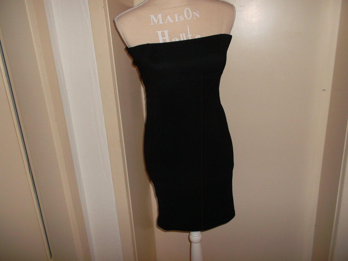 sexy trägerloses kleid,schwarz,grösse m/38
