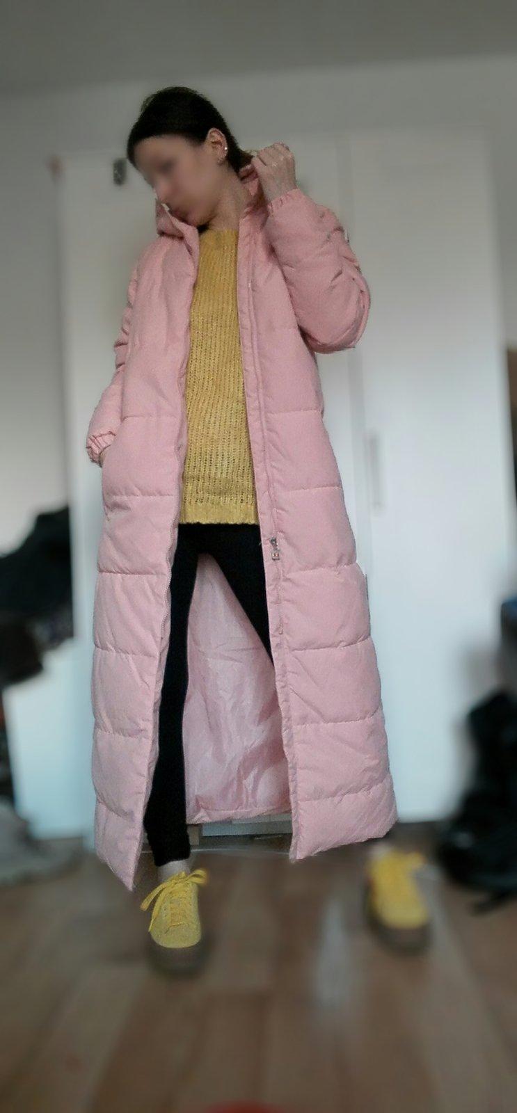 Wattierte mantel lang