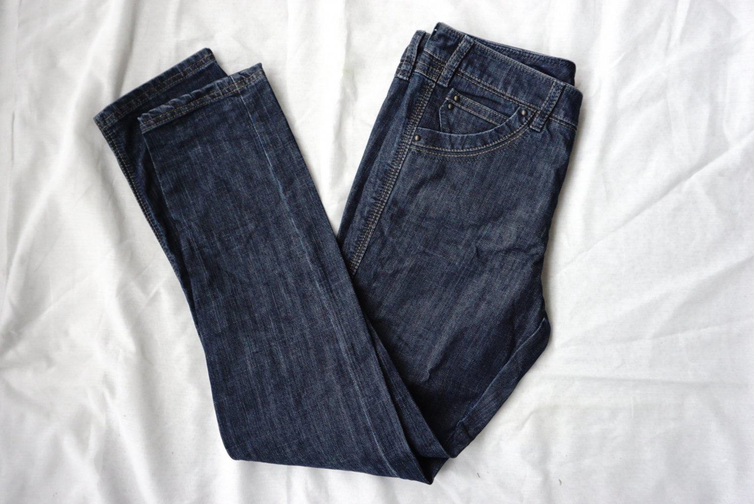 Herrlicher Damen Straight Leg Jeanshose Pitch Denim Stretch, Gr. W30L32, Blau (medium 0550)