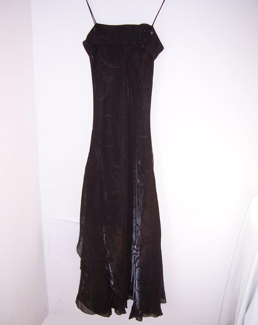 Modern und elegant in der Mode reich und großartig zu Füßen bei Ballkleid Abendkleid Kleid Stola schwarz lang Gr 36/38 Hochzeit Theater  Abikleid