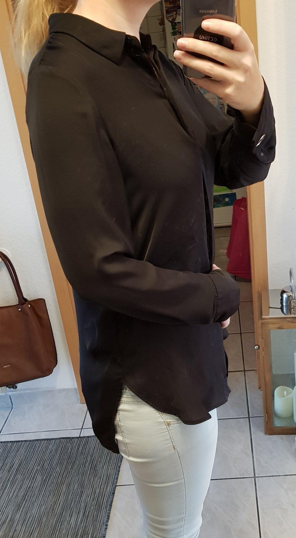 professioneller Verkauf heißer verkauf rabatt anders H&M, Bluse, Hemdbluse, Black, Schwarz, Gr. 40