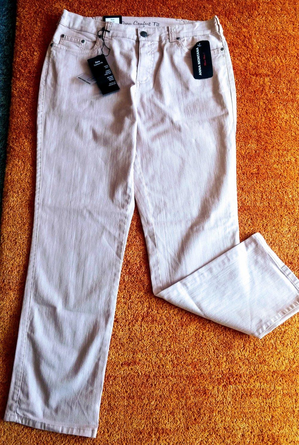 klassischer Chic am billigsten Gutscheincodes NEU Damen Hose Jeans Stretch Gr.42 in Rose´ von Anna Montana P.49,95€