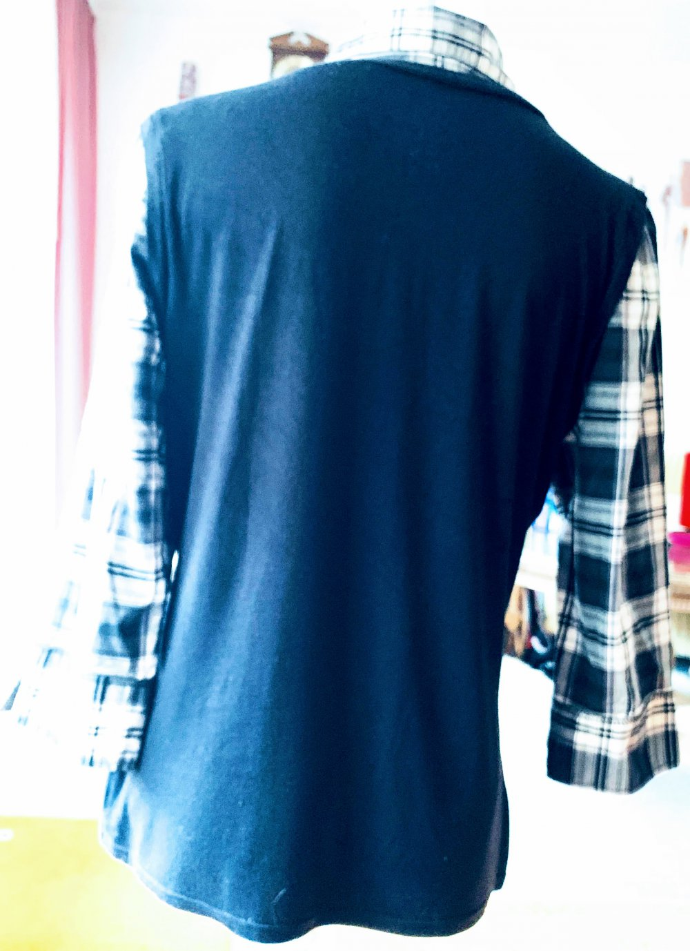 damen pullover 2-in-1-optik shirt gr.42 in schwarz von yessica c&a