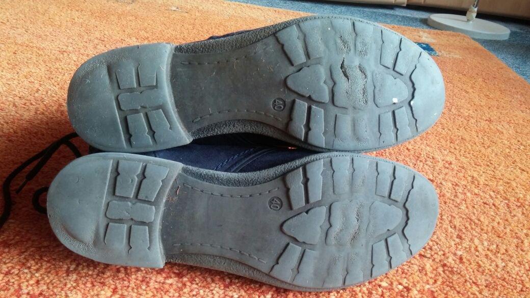 99757fff444190 ... Damen Stiefeletten Wild Leder Optik Winter Boots Gr.40 in Blau von  Graceland ...