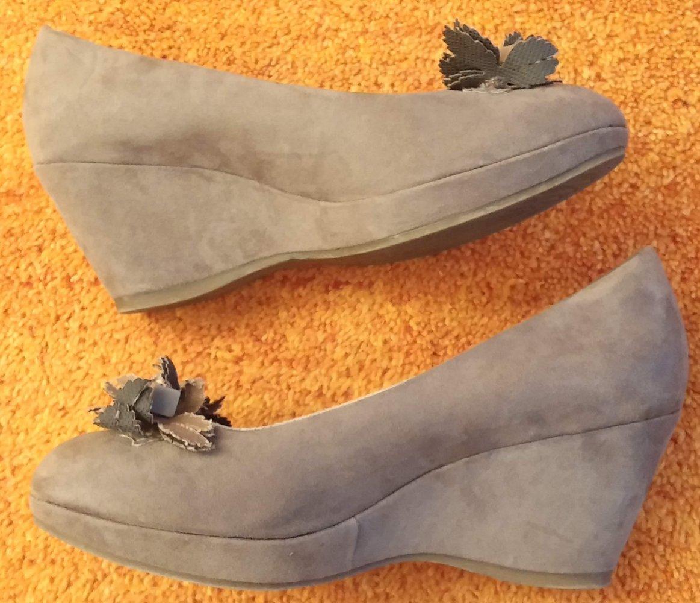 Damen Schuhe Keil Pumps Gr.40 in Taupe von Marco Tozzi NW