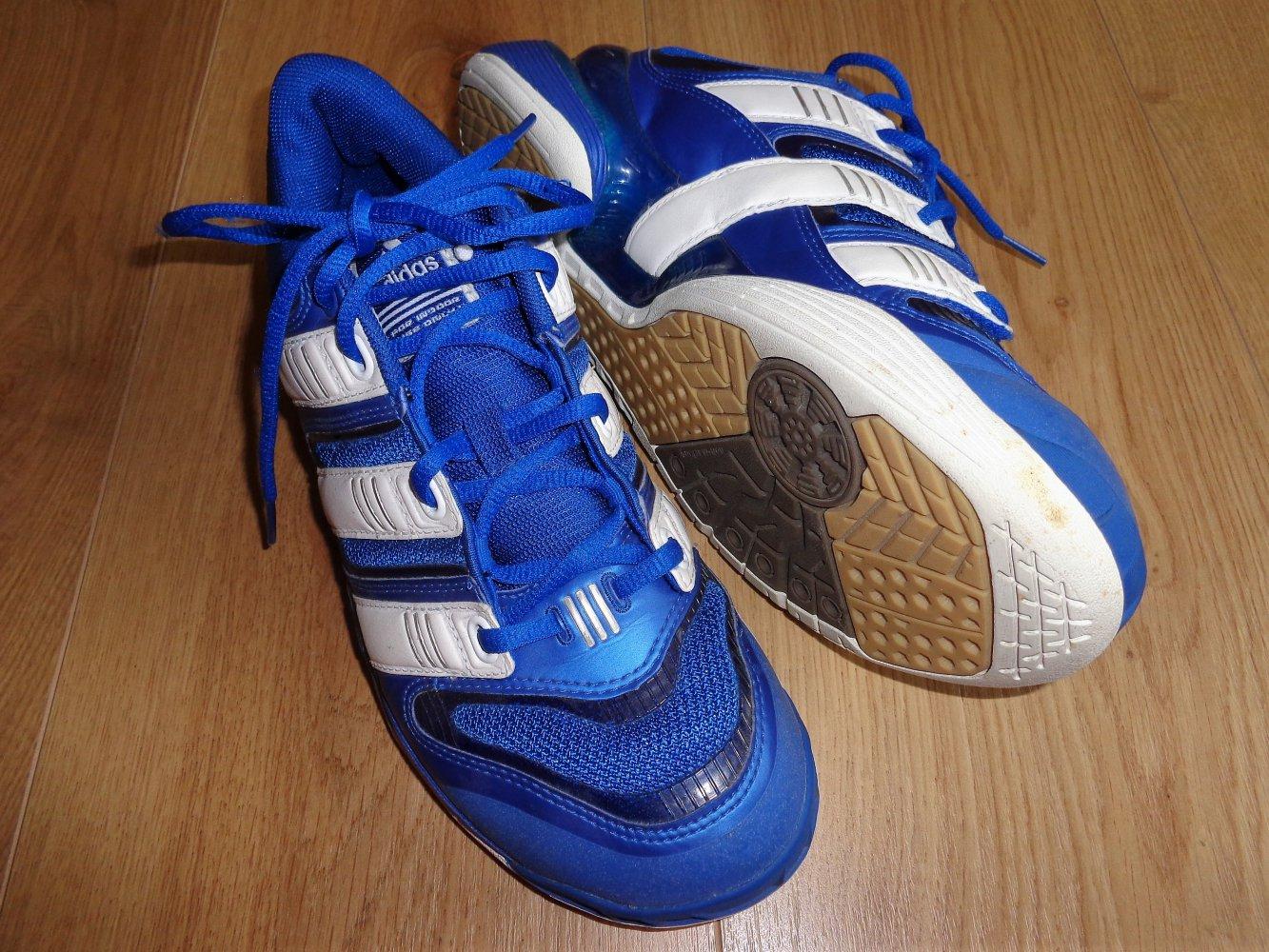 Adidas Stabil Sportschuhe gr.40 Hallenschuhe Rot Schwarz