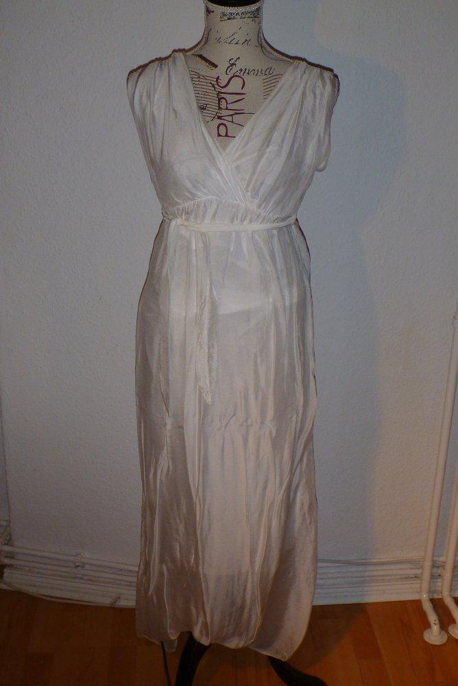 best website 252e0 545e9 weißes Seiden-Kleid made in italy Gr. 36/S