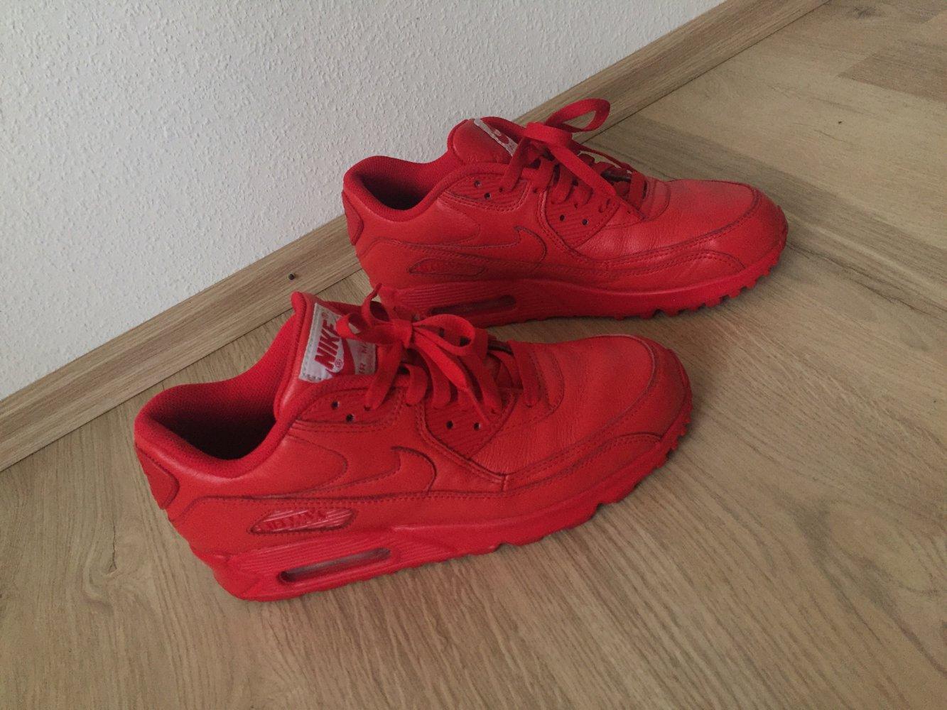 new styles f6598 64bf0 NEU Nike Air Max 90 sneaker rot leder ...