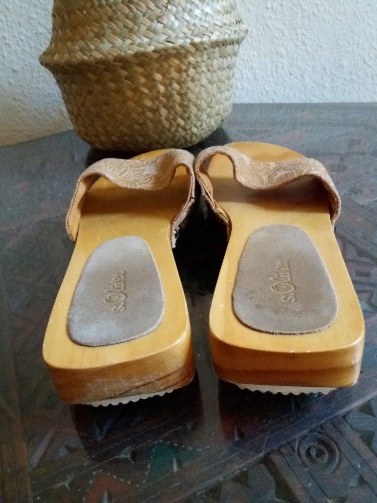 s oliver holz sandalette