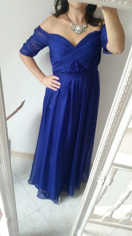 Zalando abendkleider lang blau