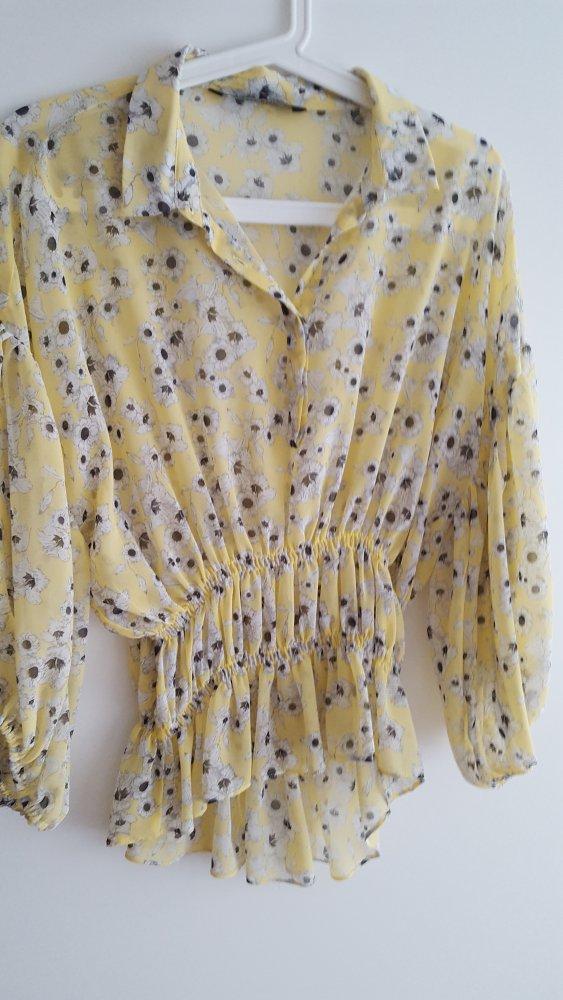 Gelbe Bluse Mit Blumen Von Zara Kleiderkorb De